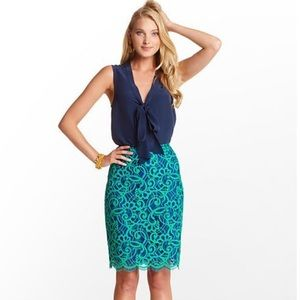 NWOT Lilly Pulitzer Hyacinth pencil skirt